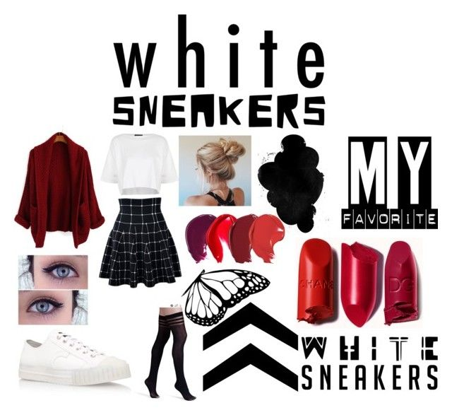 """""""WHITE SNEAKERS"""" by katiana18 ❤ liked on Polyvore featuring Topshop, ADIEU and Alice + Olivia"""