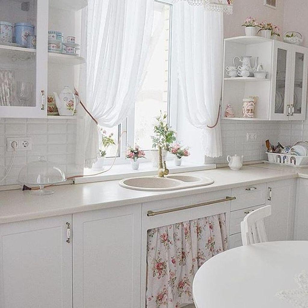 33 Gorgeous Romantic Kitchen Decoration Ideas in 2020 ...