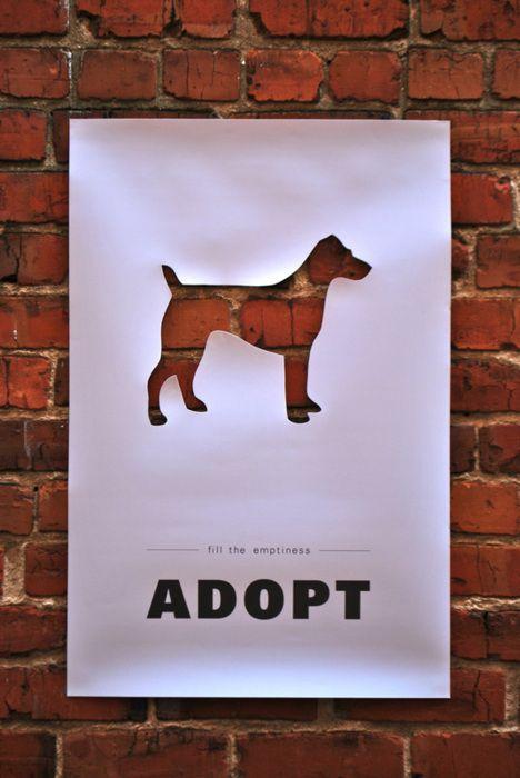 Riempi il vuoto, adotta. #cani