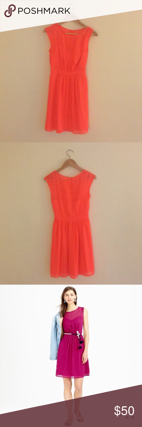 d0f9795b2a33e J Crew Sleeveless chiffon dress in zigzag Size 00 PRODUCT DETAILS A  feminine dress in light