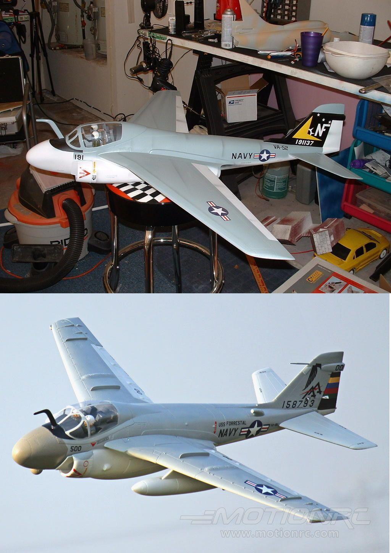 RC Plans Templates and Manuals 182212: Grumman A-6E Intruder Scratch