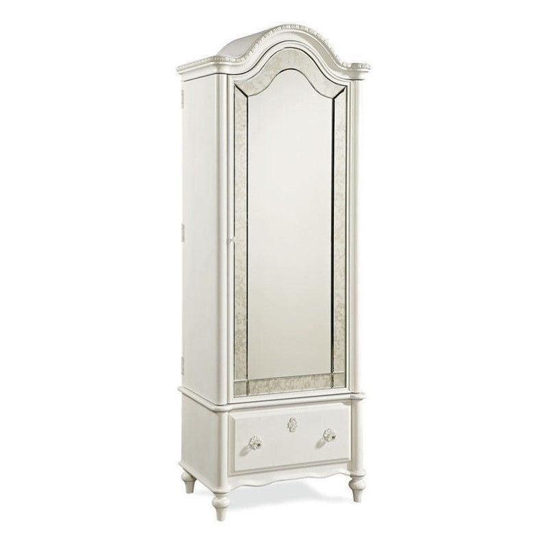 Smartstuff Bellamy Vintage Armoire In Daisy White