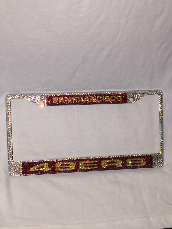 San Francisco 49ers bling license plate frame   Bling License Plate ...