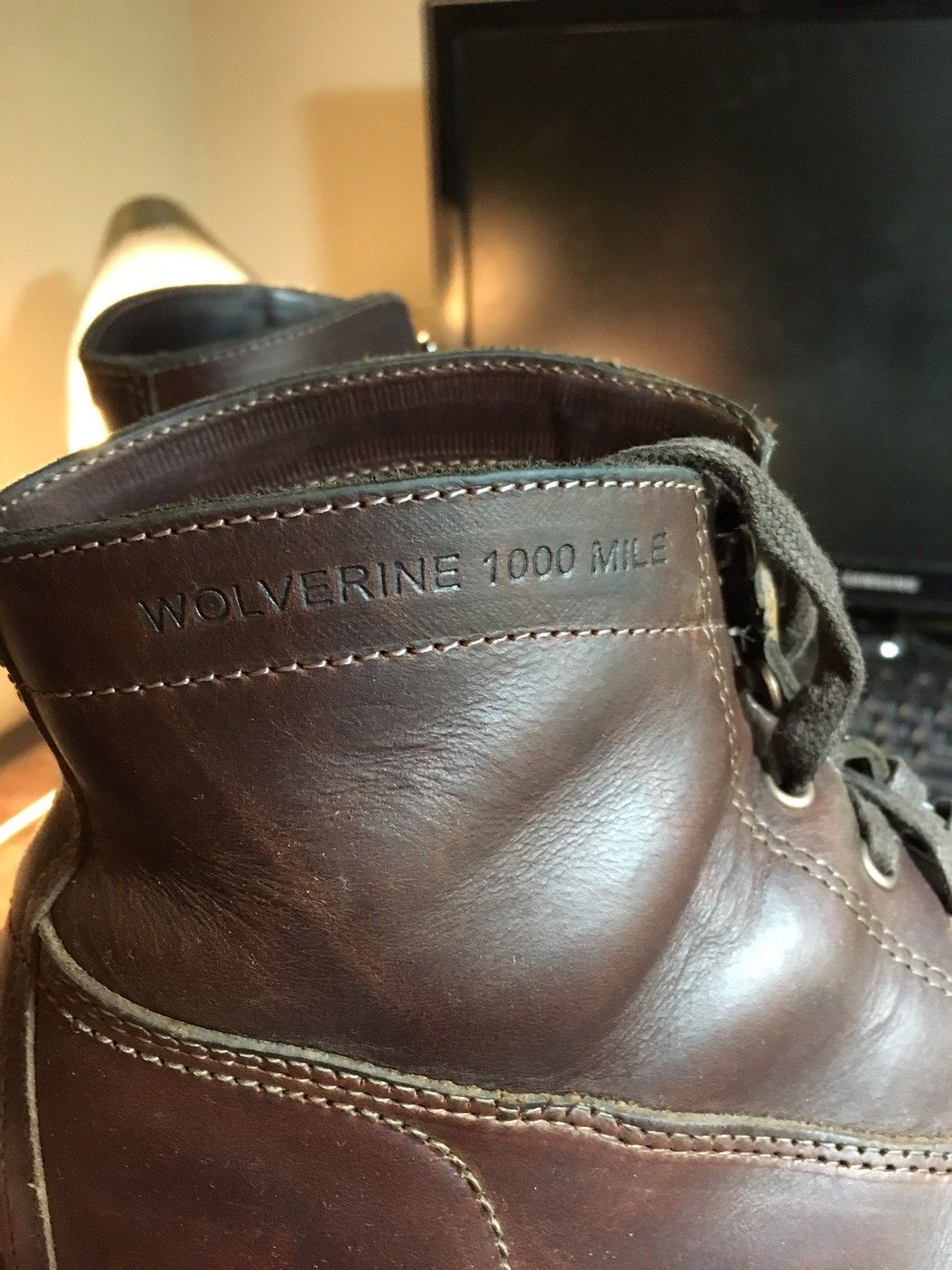 a5e8591b63b Wolverine Heritage - Rockford 1000 Mile Cap-Toe Boots - Brown - Size ...