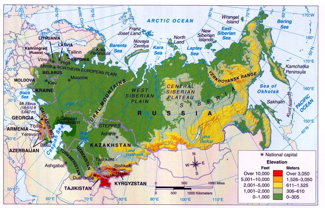 The Peremech Lounge: Climate and Elevation | Russia map ...