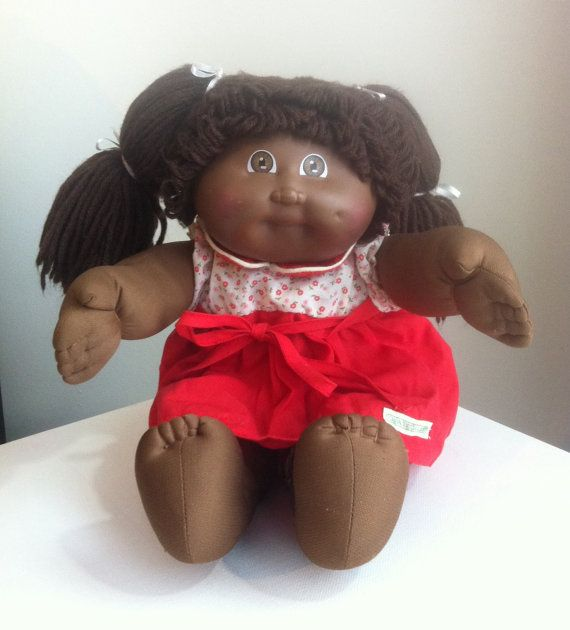 Vintage Cabbage Patch Doll African American Doll by VintageToyNerd, $27.95