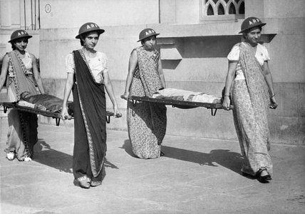 Indian women training for air raid precautions (ARP