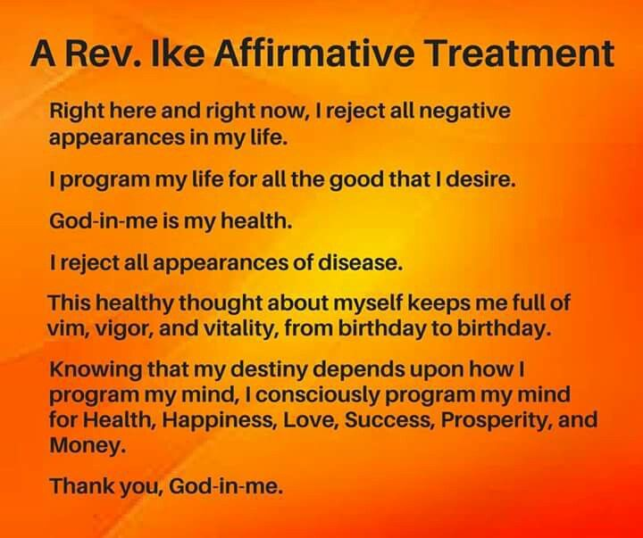 Rev Ike, Mind Power Quotes, Healing Affirmations