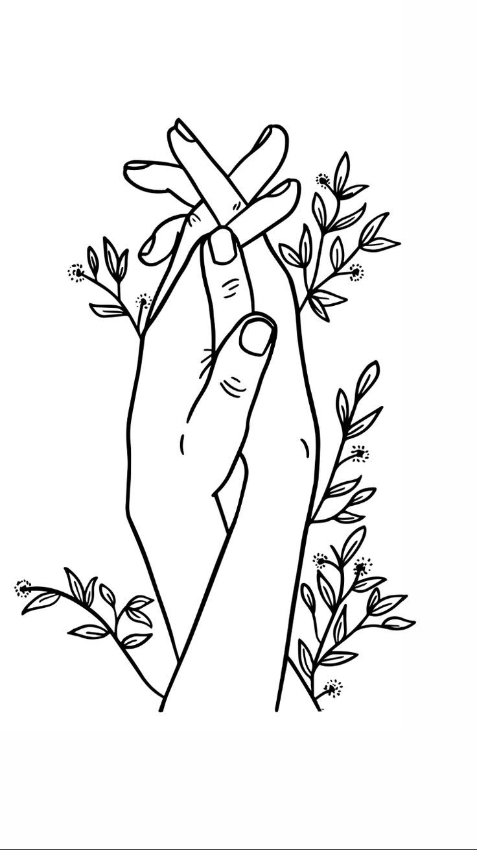 Hands Holding Printable Art Digital Download Poster, One Line Drawing, Home Decor, Digital Print, Gift for her