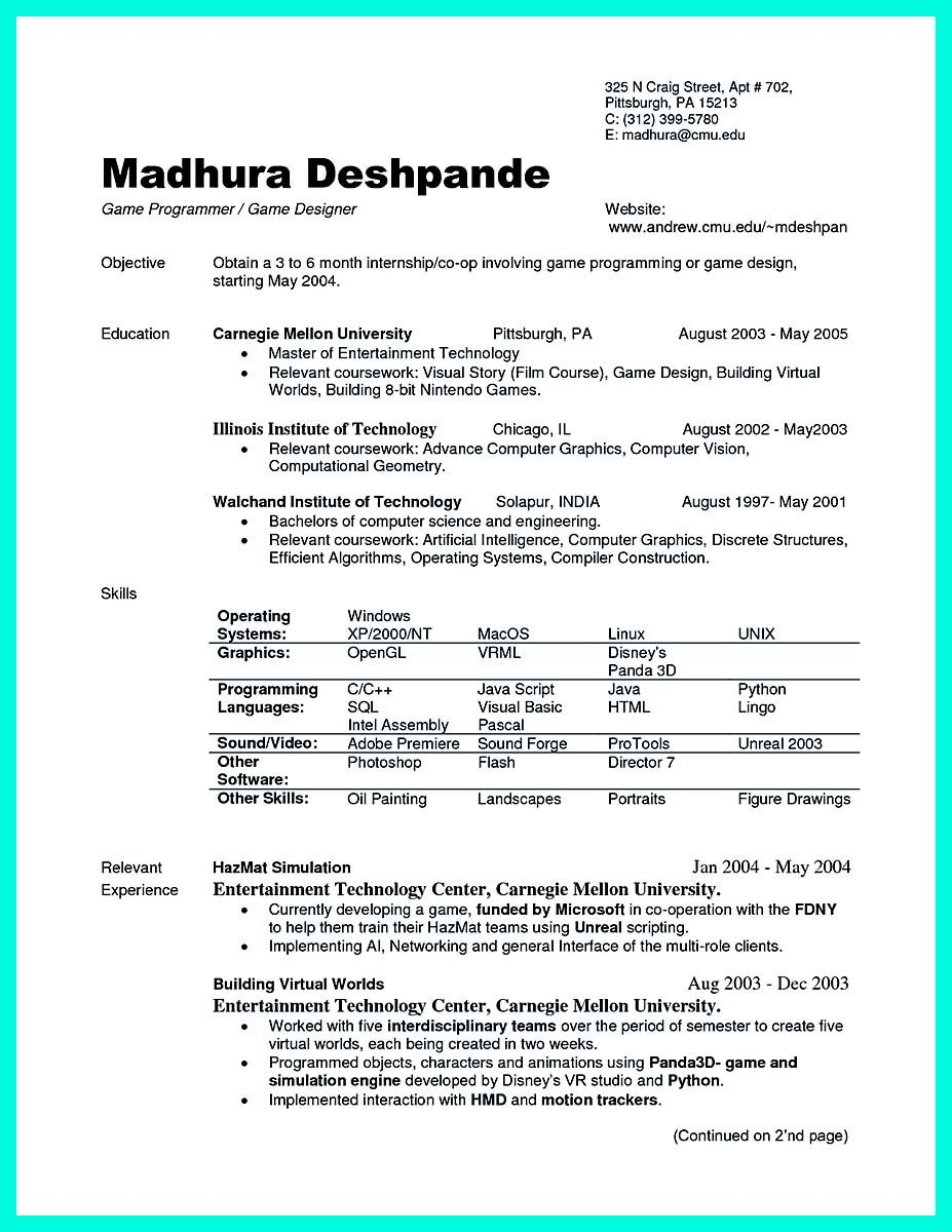 computer science resume template free word pdf document | Home ...
