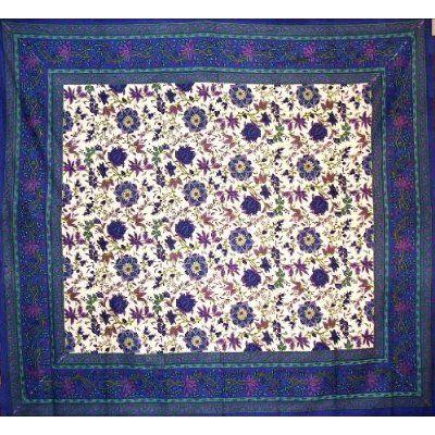 Powerloom Fabric Flower Burst $21.99 http://www.indianbedspreads.net/ss376-01.aspx