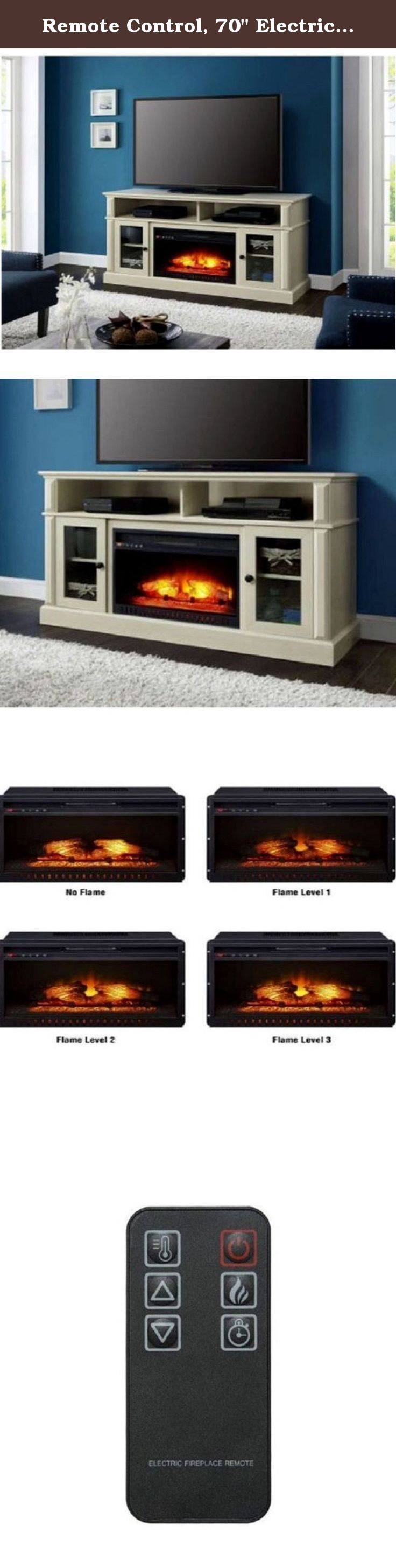 remote control 70 electric fireplace tv stand media entertainment