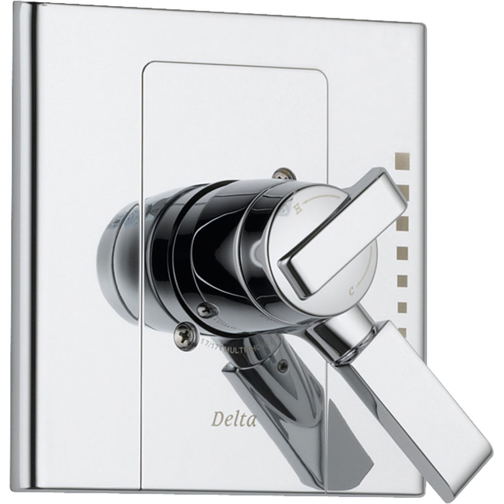 Delta Arzo 2-Handle Chrome Modern Temp/Volume Shower Control with Valve D134V