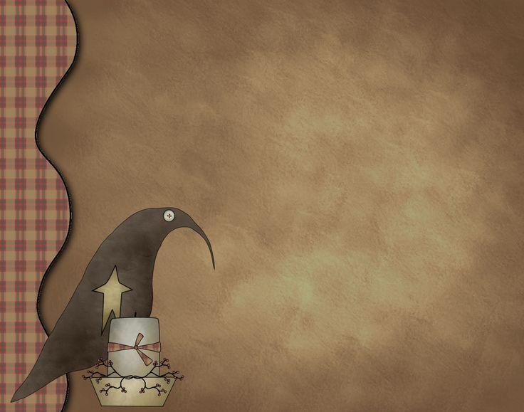 Primitive Crow Clipart