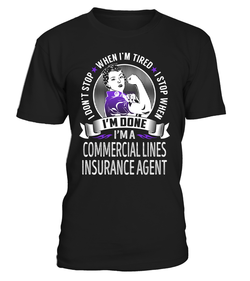 I M A Commercial Lines Insurance Agent Job Title Shirts