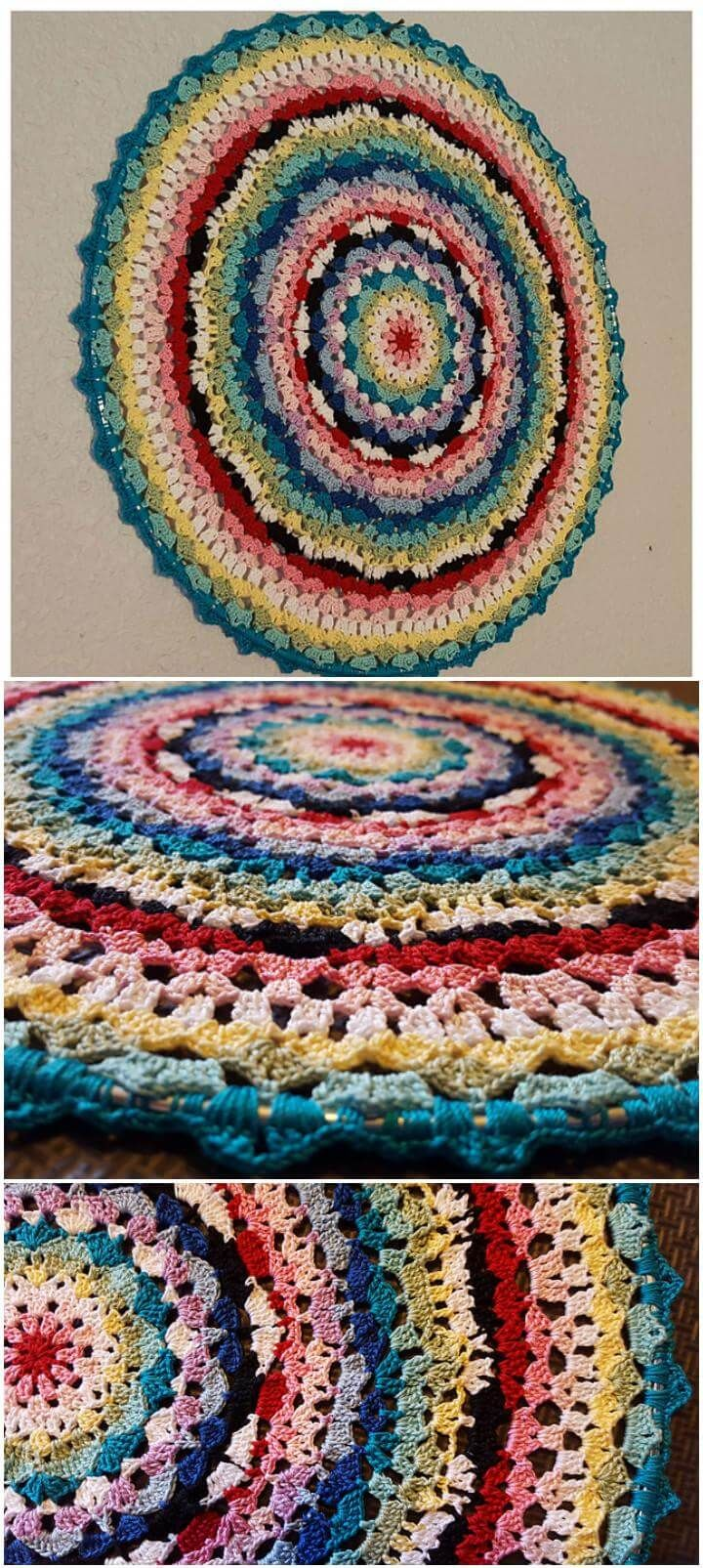 60+ Free Crochet Mandala Patterns | Crochet | Pinterest | Mandalas ...