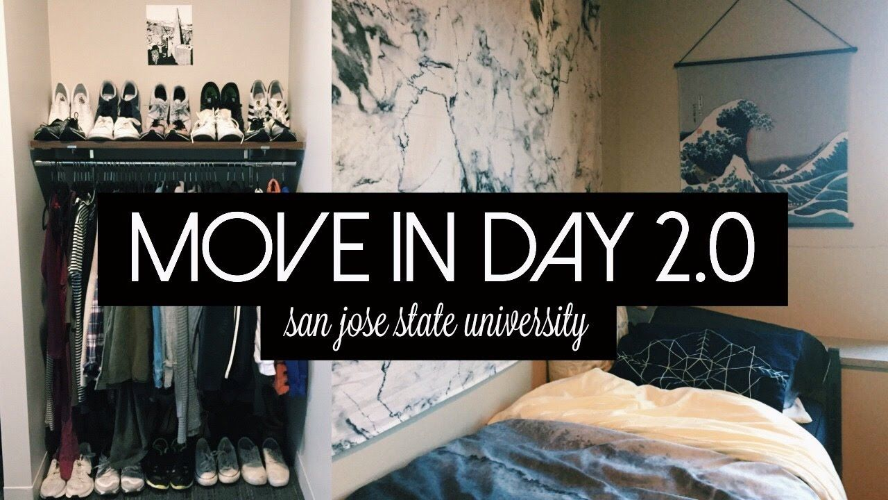 Move In Day 20 New Dorm Room Tour San Jose State University