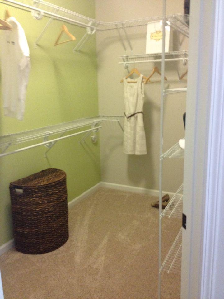 Master closet Dalton floor plan Mungo Homes