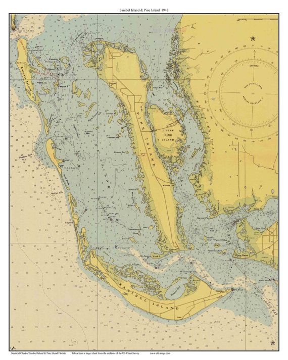 A custom print I made of just Sanibel and Pine Islands in ...