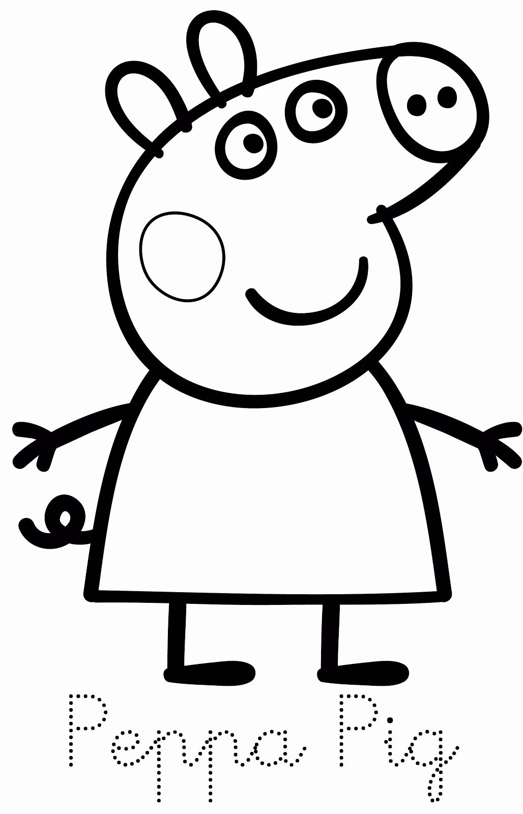 Pig Coloring Pages Fresh Peppa Pig Coloring Pages Free Printable Coloring Home Peppa Pig Colouring Peppa Pig Coloring Pages Coloring Books