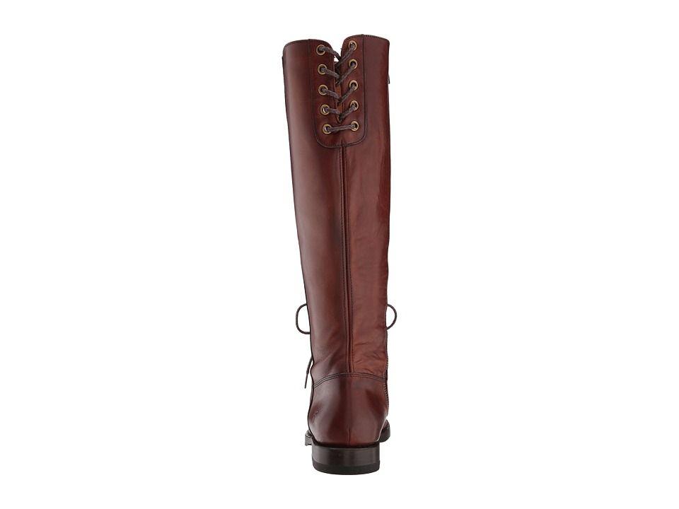 540c8984fd1 Frye Natalie Combat Tall Women's Boots Redwood Smooth Oiled Veg ...