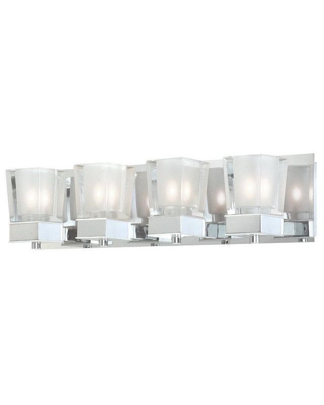 Quoizel lighting fmcn8614c forme collection four light bath vanity wall mount with led nightlight in polished