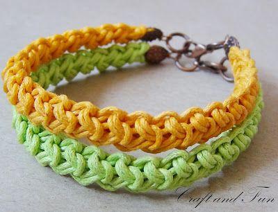 Free Patterns-nice crochet bracelet-not in english but translate ...
