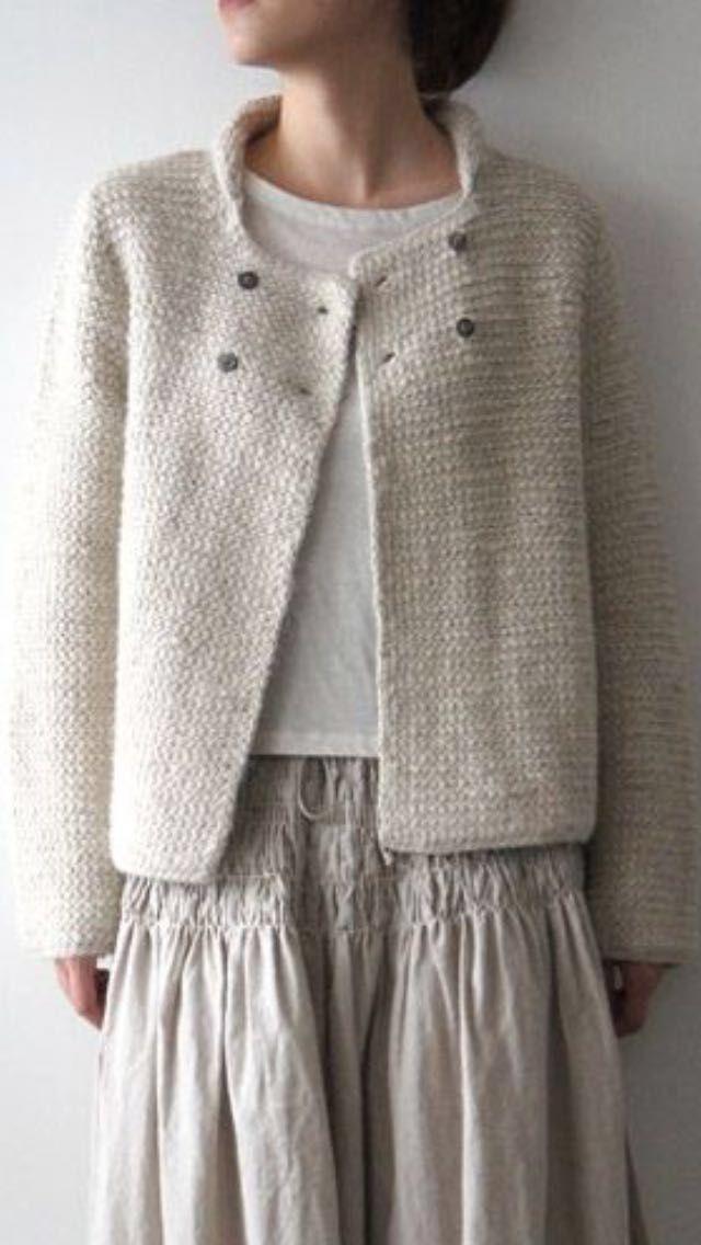 Simple knitted cardigan for beginners Einfache Strickjacke für Anfänger Source, änger