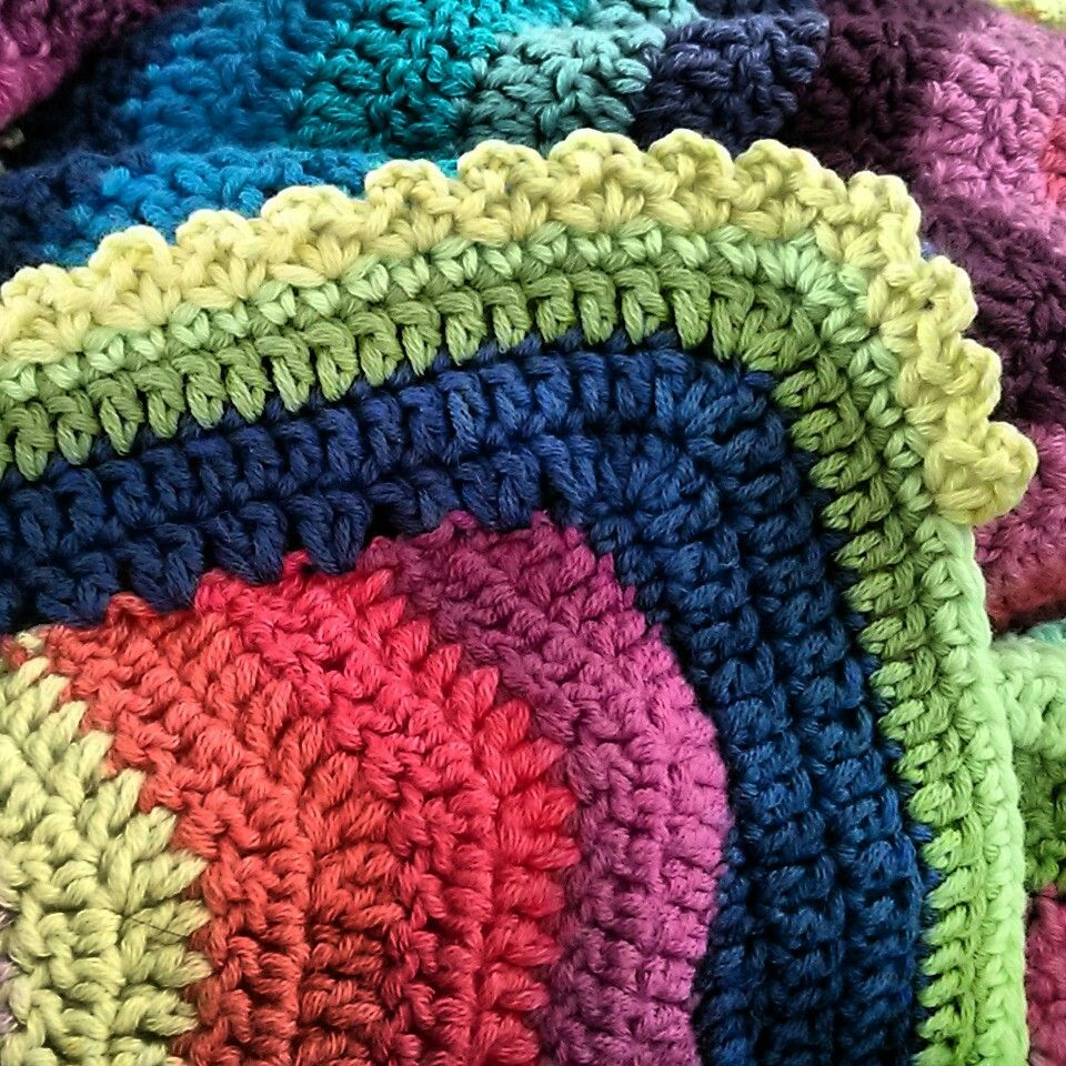 Final round of crochet ripple afghan underway...!