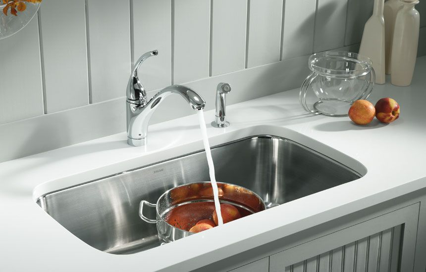 Kohler Stainless Steel Sinks Can Rock Your Home White Granite