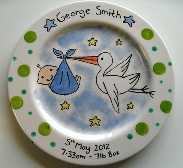 Personalised gift plates pottery painting pinterest pottery personalised gift plates negle Gallery