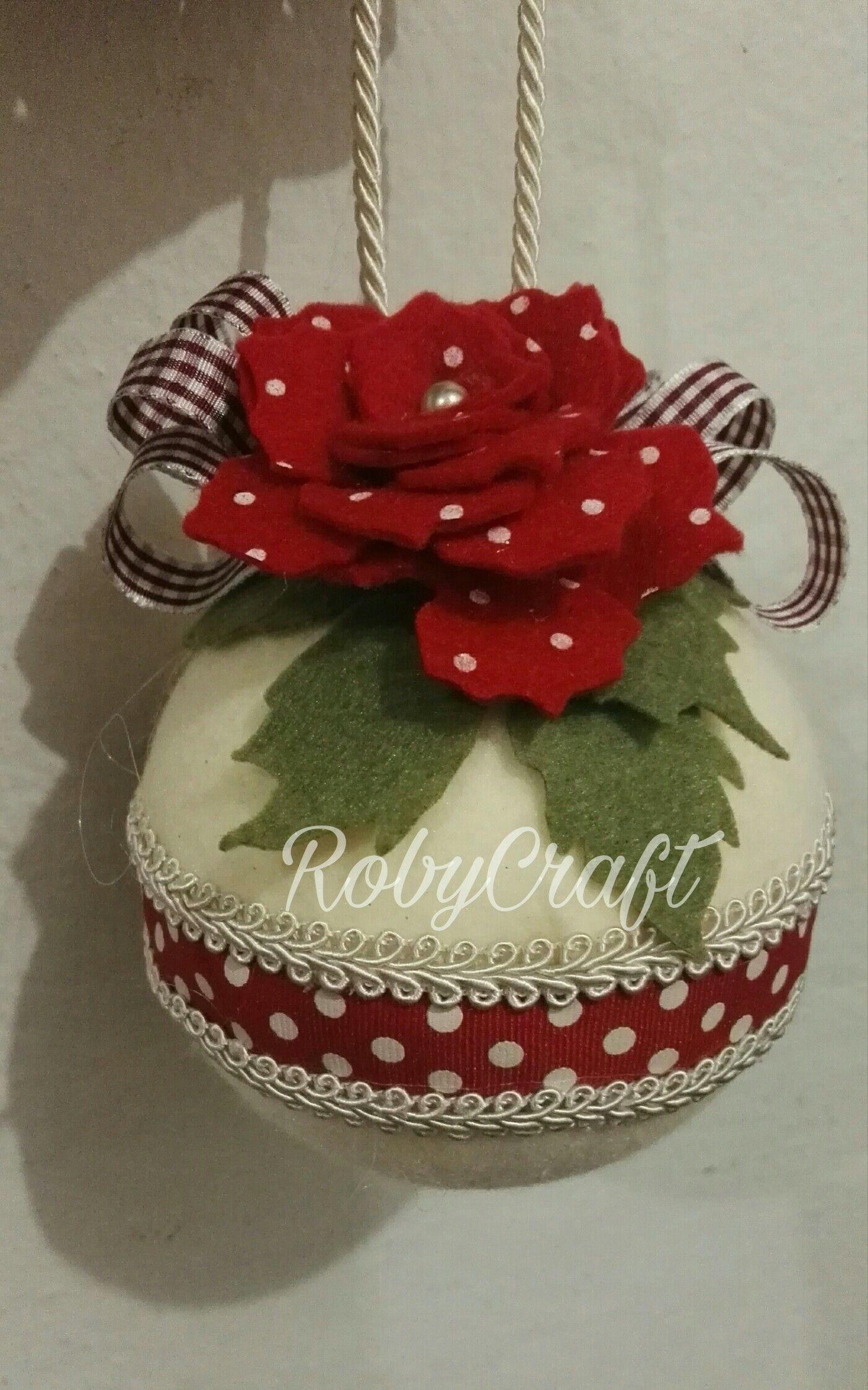 Decorazioni Natalizie In Feltro Pinterest.Palle Di Natale Fieltro Navideno Natale Ornamento Di Natale E