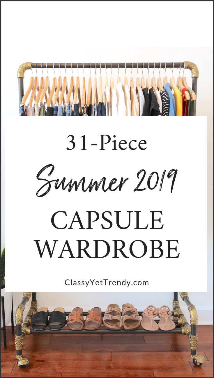 My 31-Piece Summer 2019 Capsule Wardrobe - in my Closet - clothes and shoes - Includes