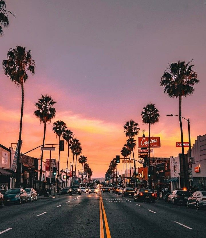 Fairfax District Los Angeles Los Angeles Wallpaper Sky Aesthetic Scenery
