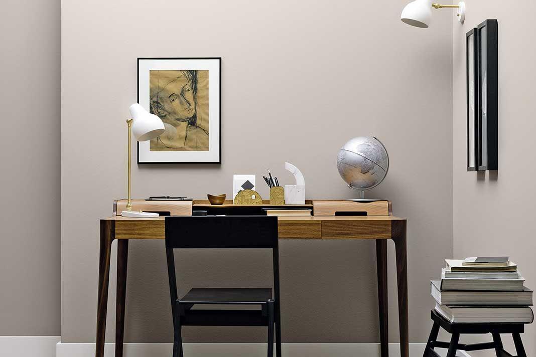 Ein kühles Grau im heimischen Büro sorgt für eine bessere - schlafzimmer farben ideen mehr weite