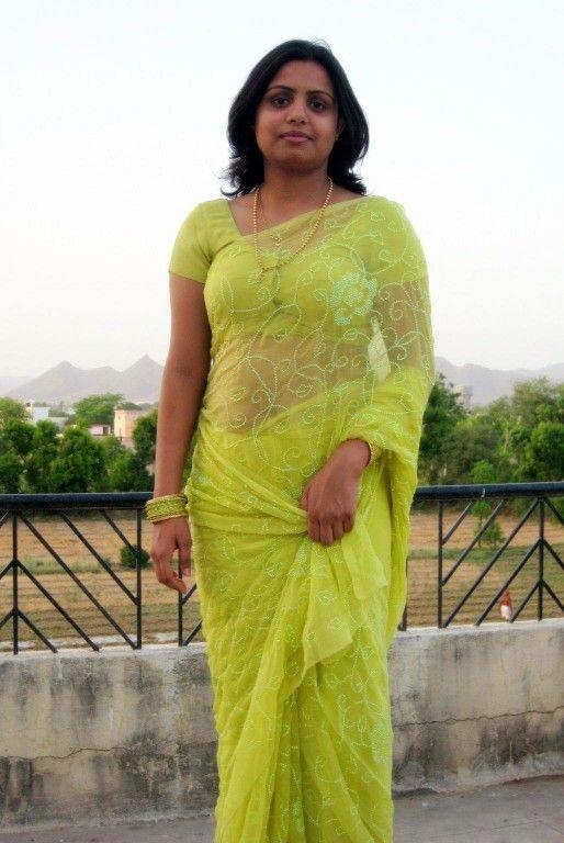 Bangladeshi Woman In Transparent Saree