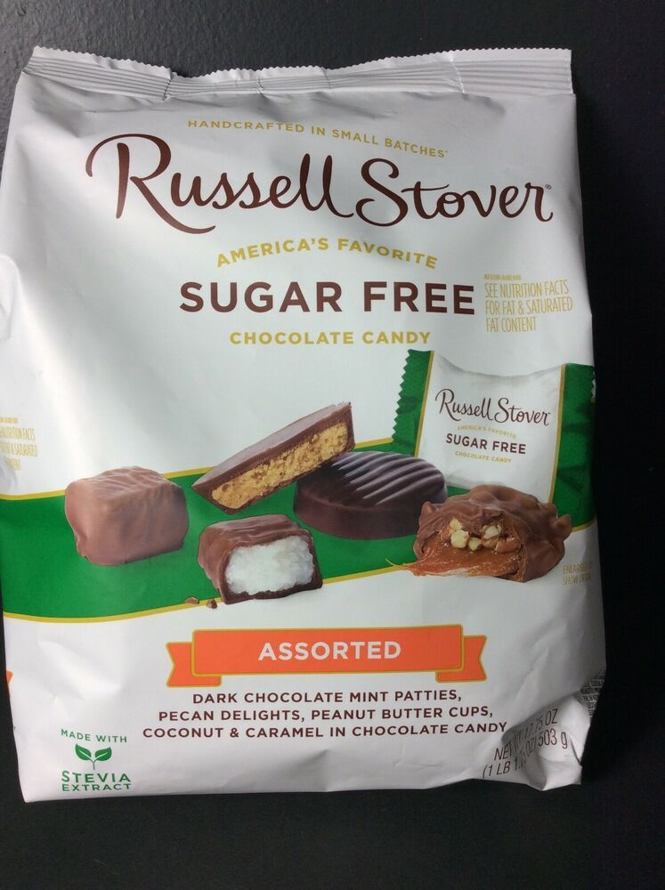 Russell Stover Sugar Free Assorted Chocolates Large Bag 1lb 1 75oz Exp 03 21 Russellstover In 2020 Chocolate Assortment Coconut Caramel Mint Patties