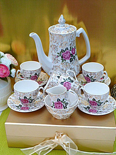 Staffordshire Coffee Set Www Cakestandland Co Uk