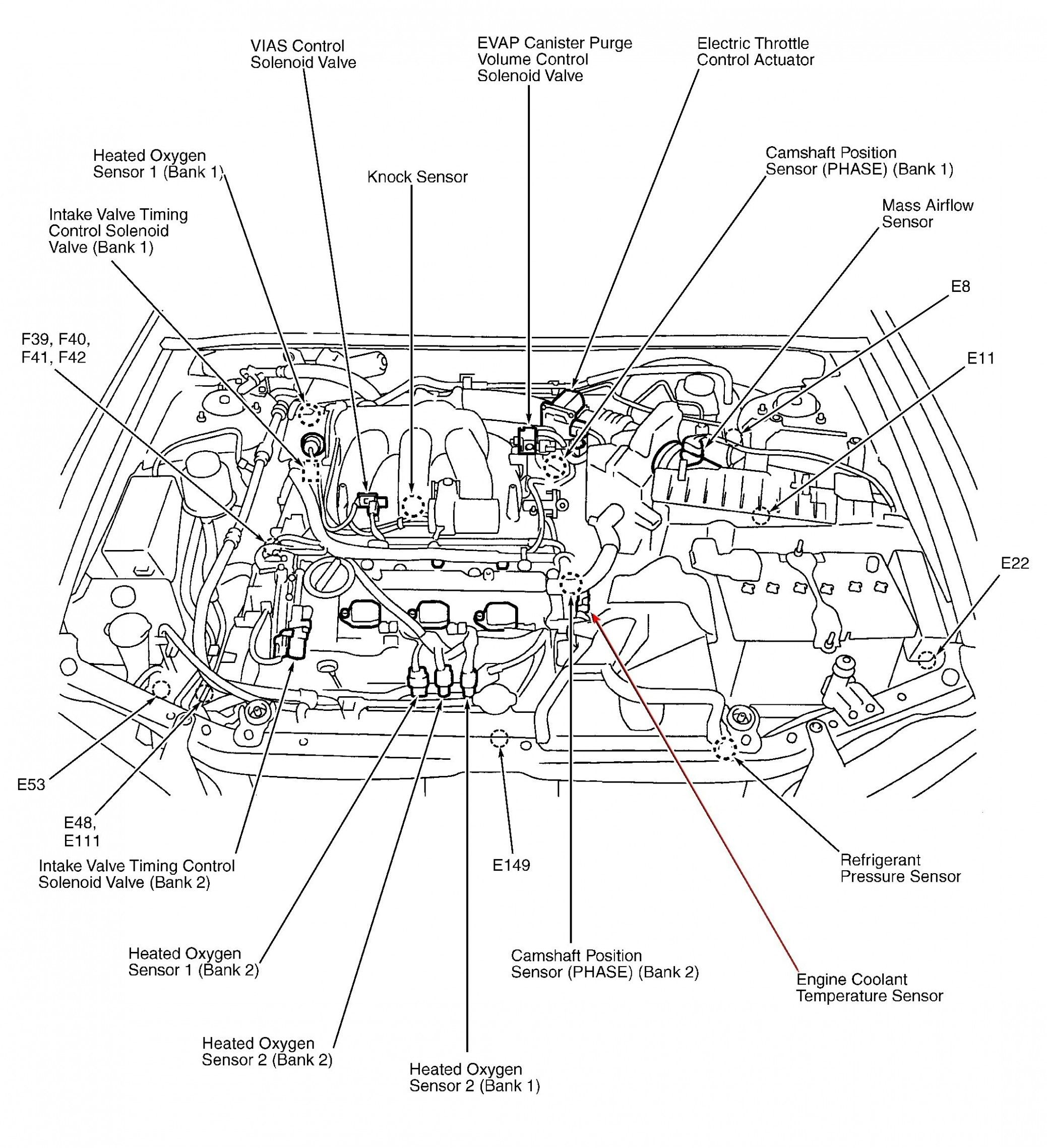 8 ford focus engine compartment diagram | nissan maxima, nissan, radio  pinterest