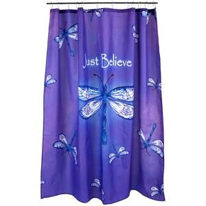 Just Believe Dragonfly Shower Curtain