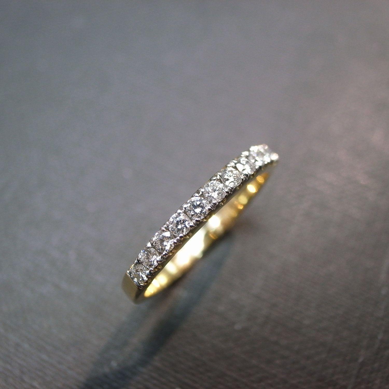 Wedding Diamond Bride Ring Band in 14K Yellow Gold