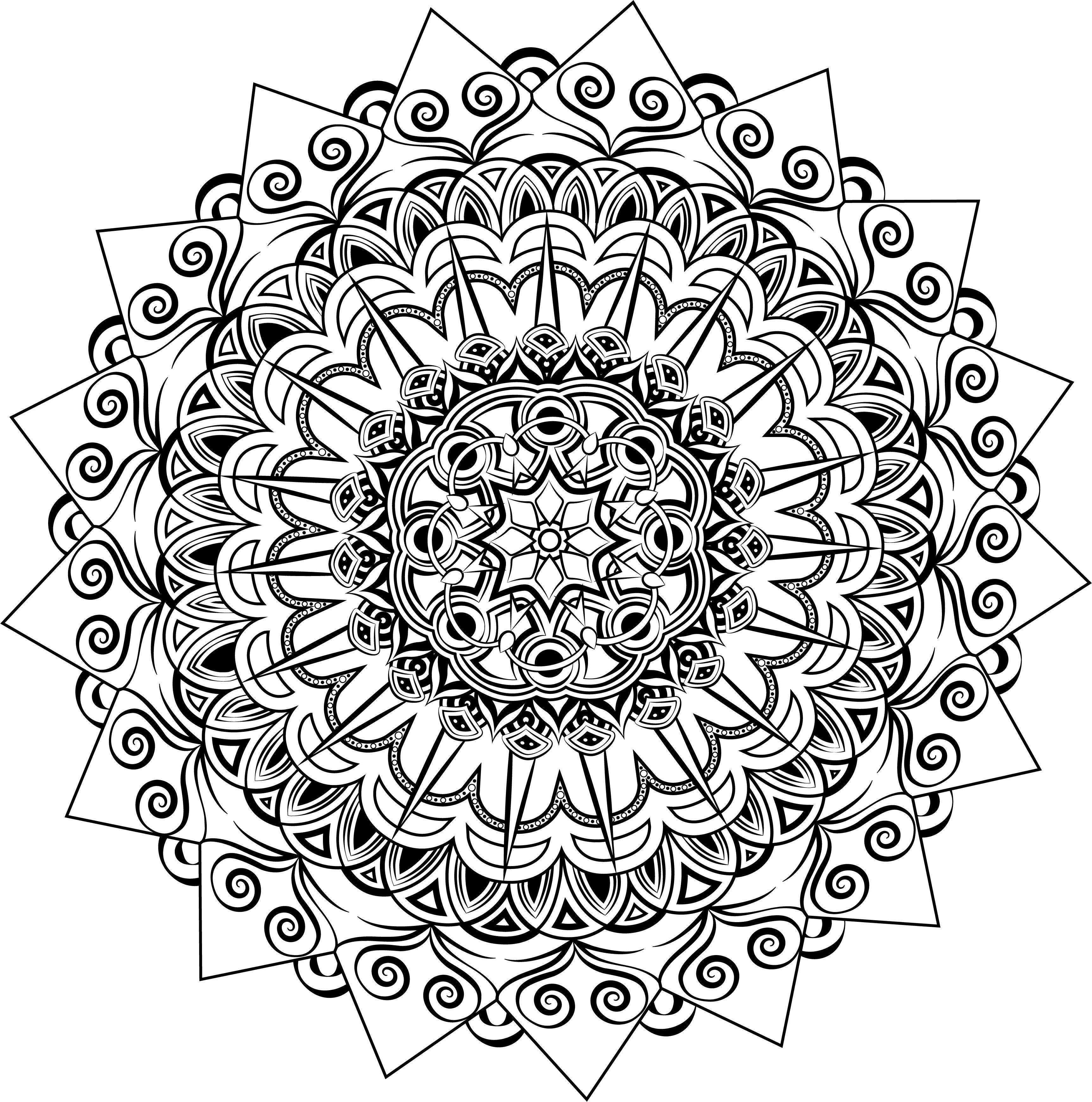 gunston coloring pages   Пин от пользователя Irina на доске Мандалы. Арт-терапия ...