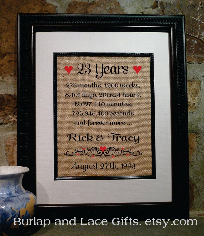 23rd Anniversary 23 Years To Her Years 18th Anniversary Gifts Anniversary Gifts 14th Anniversary Gifts