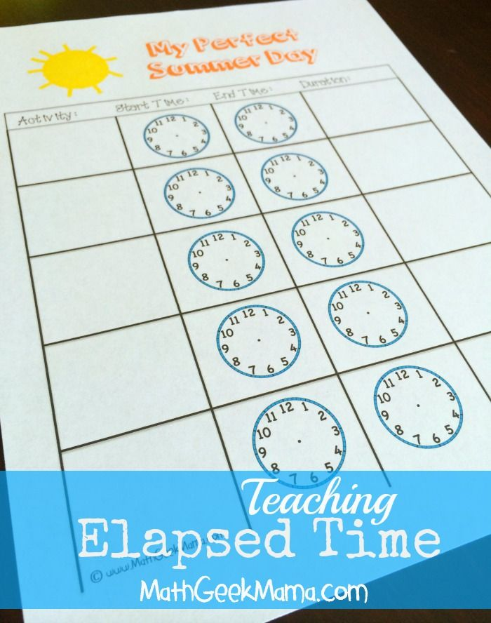 Summer Math Camp Week 5: Telling Time | TpT Misc. Lessons ...