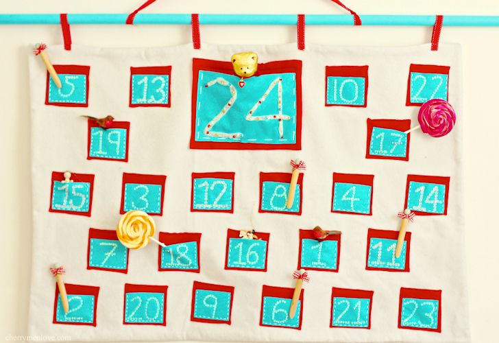 how to make a pocket advent calendar   wwwcherrymenlove