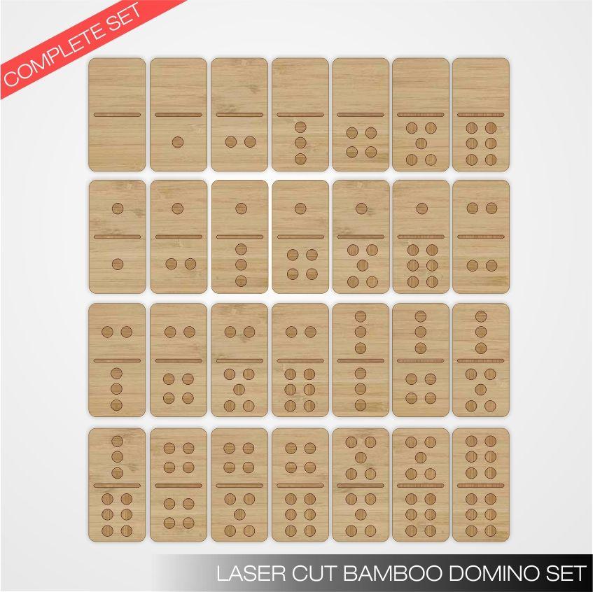 Laser cut bamboo domino set FabLab Pinterest Laser, Juego y - new tabla periodica en juego didactico