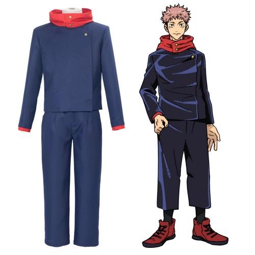 Jujutsu Kaisen Yuji Itadori Cosplay Costume Red Hooded Anime Cosplay Suit In 2021 Cosplay Costumes Cosplay Anime Cosplay