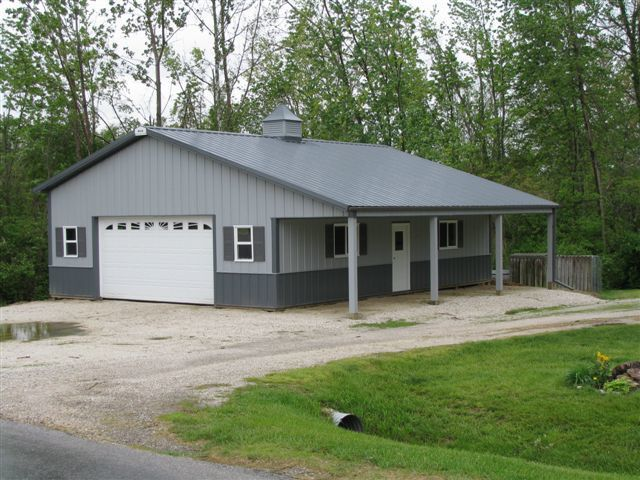 Pole barn residential google search homes metal for Residential garage kits