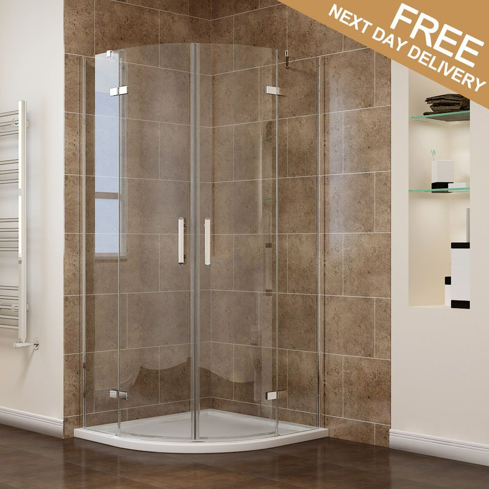 Details About Quadrant Shower Enclosure And Tray 6mm Frameless