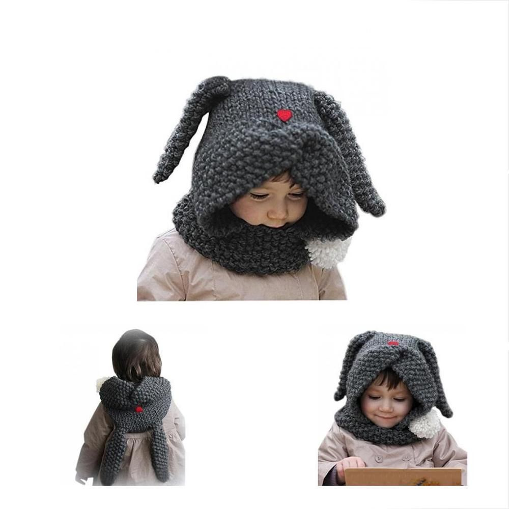d8059b53f0b84 New Fashion Hats   Caps Winter Cute Girls Kids Warm Animal Knitted Bunny  Ear For  fashion  clothing  shoes  accessories  babytoddlerclothing ...
